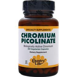 Buy Country Life, Chromium Picolinate (200mcg), 200 vcaps at Herbal Bless Supplement Store