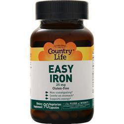 Buy Country Life, Easy Iron (25mg), 90 vcaps at Herbal Bless Supplement Store