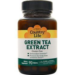Buy Country Life, Green Tea Extract, 90 tabs at Herbal Bless Supplement Store