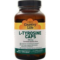 Buy Country Life, L-Tyrosine Caps (500mg), 100 vcaps at Herbal Bless Supplement Store