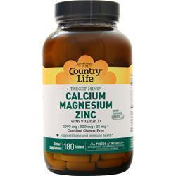 Buy Country Life, Target Mins - Calcium Magnesium Zinc, 180 tabs at Herbal Bless Supplement Store