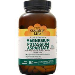 Buy Country Life, Target-Mins - Magnesium Potassium Aspartate, 180 tabs at Herbal Bless Supplement Store