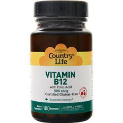 Buy Country Life, Vitamin B-12 (500mcg) at Herbal Bless Supplement Store