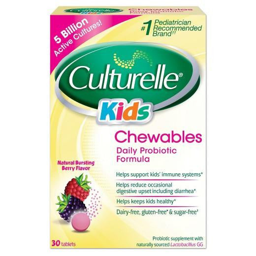 Buy Culturelle, Kid's Probiotic Chewable Berry - 30ct at Herbal Bless Supplement Store