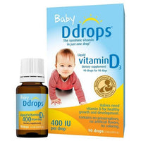 Buy Ddrops, Baby 400 IU Vitamin D Drops - 90 Drops at Herbal Bless Supplement Store