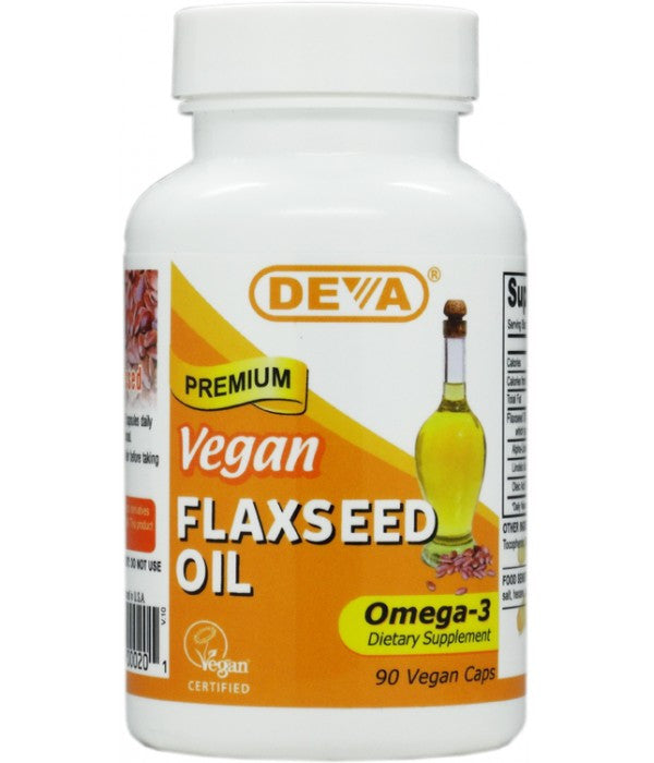 Buy Deva, Vegan Flax Seed Oil 500mg, 90 cap vegi at Herbal Bless Supplement Store