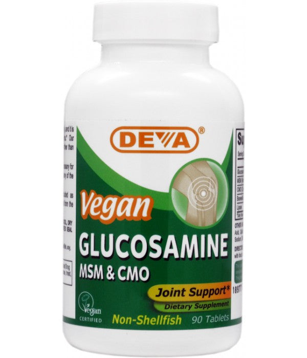 Buy Deva, Vegan Glucosamine, MSM & CMO, 90 tablet at Herbal Bless Supplement Store