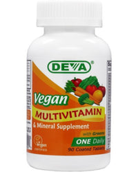 Buy Deva, Vegan Multivitamin & Mineral One Daily, 90 tablet at Herbal Bless Supplement Store