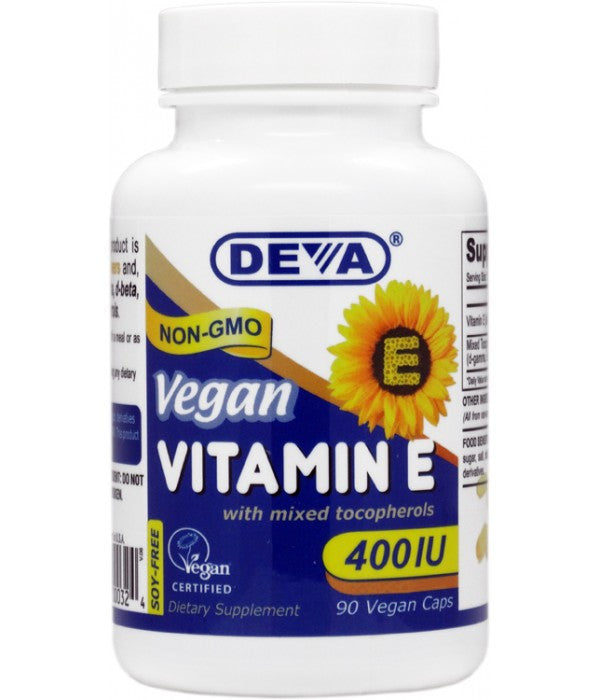 Buy Deva, Vitamin E 400 IU-Mixed Tocop, 90 cap vegi at Herbal Bless Supplement Store