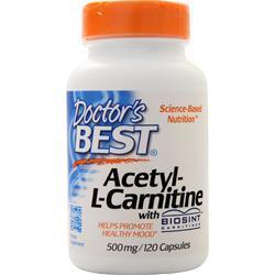 Buy Doctor's Best, Acetyl-L-Carnitine (500mg), 120 caps at Herbal Bless Supplement Store