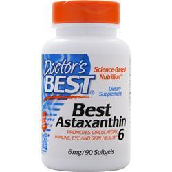 Buy Doctor's Best, Best Astaxanthin (6mg), 90 sgels at Herbal Bless Supplement Store