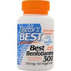 Buy Doctor's Best, Best Benfotiamine (300mg), 60 vcaps at Herbal Bless Supplement Store