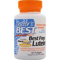 Buy Doctor's Best, Best Free Lutein, 60 sgels at Herbal Bless Supplement Store