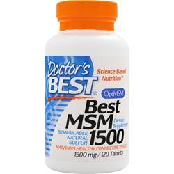 Buy Doctor's Best, Best MSM (1500mg), 120 tabs at Herbal Bless Supplement Store