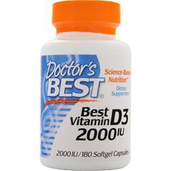 Buy Doctor's Best, Best Vitamin D3 (2000IU), 180 sgels at Herbal Bless Supplement Store