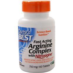 Buy Doctor's Best, Fast Acting Arginine Complex with Nitrosigine, 60 tabs at Herbal Bless Supplement Store