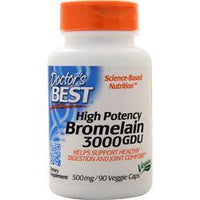 Buy Doctor's Best, High Potency Bromelain (3000GDU), 90 vcaps at Herbal Bless Supplement Store