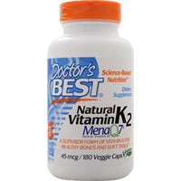 Buy Doctor's Best, Natural Vitamin K2 - MenaQ7, 180 vcaps at Herbal Bless Supplement Store