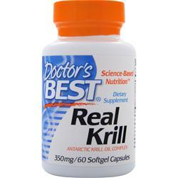 Buy Doctor's Best, Real Krill (350mg), 60 sgels at Herbal Bless Supplement Store