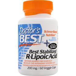 Buy Doctor's Best, Stabilized R-Lipoic Acid with BioEnhanced Na-RALA (200mg), 60 vcaps at Herbal Bless Supplement Store