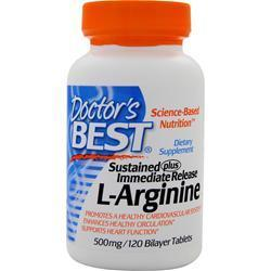 Buy Doctor's Best, Sustained Plus Immediate Release L-Arginine, 120 tabs at Herbal Bless Supplement Store