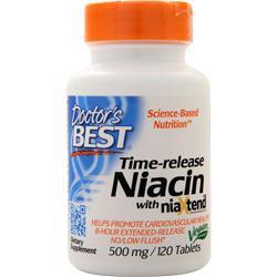 Buy Doctor's Best, Time-release Niacin with NiaXtend (500mg) at Herbal Bless Supplement Store