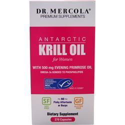 Buy Dr. Mercola, Antarctic Krill Oil for Women, 270 caps at Herbal Bless Supplement Store