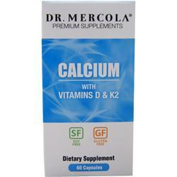 Buy Dr. Mercola, Calcium with Vitamins D & K2, 60 caps at Herbal Bless Supplement Store