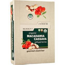 Buy Dr. Mercola, Organic Macadamia Cassava Snack Bar, With Goji Berries 12 bars at Herbal Bless Supplement Store