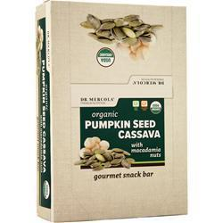Buy Dr. Mercola, Organic Pumpkin Seed Cassava with Macadamia Nuts - 12 bars at Herbal Bless Supplement Store