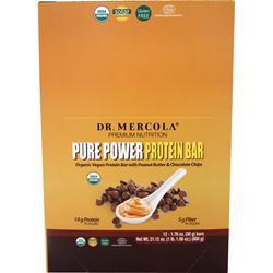 Buy Dr. Mercola, Pure Power Protein Bar, Peanut Butter & Chocolate 12 bars at Herbal Bless Supplement Store