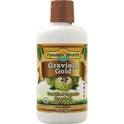 Buy Dynamic Health, Graviola Gold Liquid (Certified Organic), 32 fl.oz at Herbal Bless Supplement Store