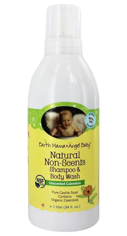 Buy Earth Mama Angel Baby, Natural Non-Scents Shampoo & Body Wash, 34 oz at Herbal Bless Supplement Store
