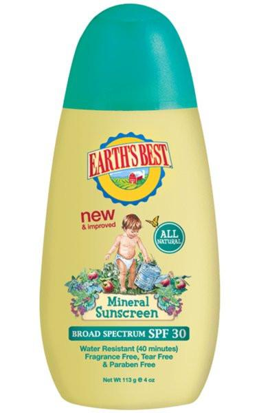 Buy Earth's Best, Chemical Free Sun Block SPF30+ for Kids, 4 oz at Herbal Bless Supplement Store