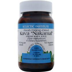 Buy Eclectic Institute, Fresh Freeze-Dried Kava Nakamal (425mg),100 vcaps at Herbal Bless Supplement Store