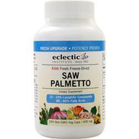 Buy Eclectic Institute, Fresh Freeze-Dried Saw Palmetto (600mg), 240 vcaps at Herbal Bless Supplement Store