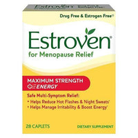 Buy Estroven, Menopause Relief Maximum Strength + Energy Caplets, 28 ct at Herbal Bless Supplement Store