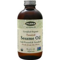 Buy Flora, Organic Toasted Sesame Oil - Cold Pressed & Unrefined, 8.5 fl.oz at Herbal Bless Supplement Store