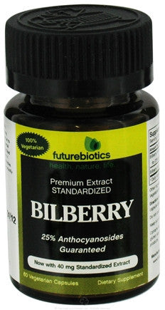 Buy Futurebiotics, Bilberry 125mg Complex (25mg Standardized Extract), 60 capsule at Herbal Bless Supplement Store