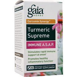 Buy Gaia Herbs, Curcumin Synergy Turmeric Supreme - Immune A.S.A.P., 20 lcaps at Herbal Bless Supplement Store