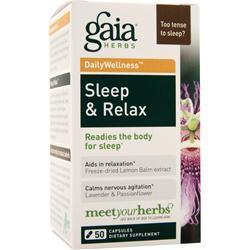 Buy Gaia Herbs, Daily Wellness - Sleep & Relax, 50 caps at Herbal Bless Supplement Store