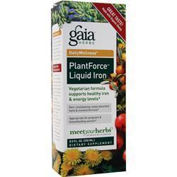 Buy Gaia Herbs, DailyWellness - Plant Force Liquid Iron, 8.5 fl.oz at Herbal Bless Supplement Store