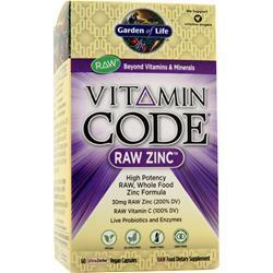 Buy Garden Of Life, Vitamin Code - Raw Zinc, 60 vcaps at Herbal Bless Supplement Store