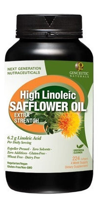 Buy Genceutics, High Linoleic Safflower Oil, 224 softgel at Herbal Bless Supplement Store
