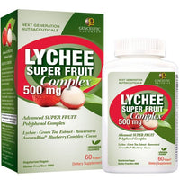 Buy Genceutics, Lychee Super Fruit Complex 500mg, 60 cap vegi at Herbal Bless Supplement Store