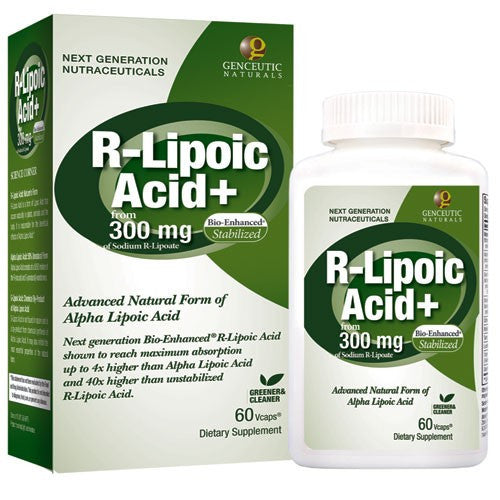 Buy Genceutics, Natural R-Lipoic Acid 300 mg. - 60 Veg Capsules at Herbal Bless Supplement Store