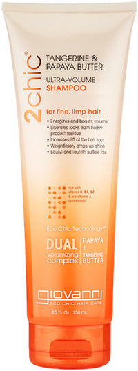 Buy Giovanni, Ultra Volume Shampoo with Tangerine & Papaya Butter, 8.5 oz at Herbal Bless Supplement Store