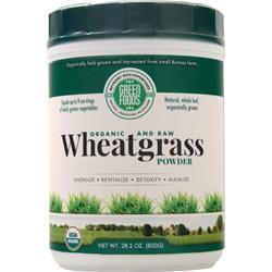 Buy Green Foods, Wheatgrass Powder - Organic and Raw, 28.2 oz at Herbal Bless Supplement Store