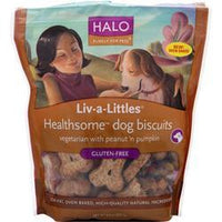 Buy Halo, Liv-A-Littles Healthsome Dog Biscuits, GlutenFree PeanutPumpkin 8 oz at Herbal Bless Supplement Store