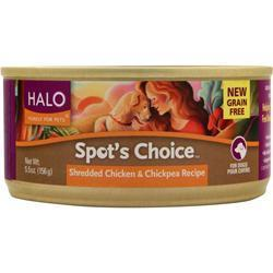 Buy Halo, Spot's Choice For Dogs - Shredded, Chicken & Chickpea 5.5 oz at Herbal Bless Supplement Store